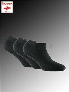 Sneaker Bamboo Rohner Kurzsocken - 009 schwarz