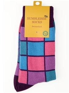 NEAT STRUCTURE - Bumblebee Socken quadratisch gemustert