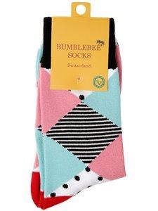 ADD PASTEL - Bumblebee Socken mit Rautenmuster