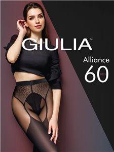 ALLIANCE - Giulia Strumpfhose in Straps-Optik