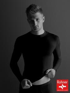 T-Shirt Langarm - schwarz