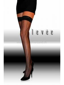 Levée - Fashion halterlose Netzstrümpfe